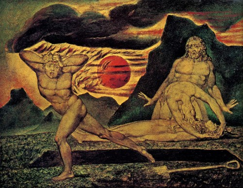 "William Blake: ""Cain flees"" (1825)"