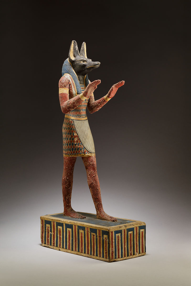 "Anubis with a ""jackal"" head, ancient Egyptian god of death and weighing of the heart, 332–30 B.C.E."