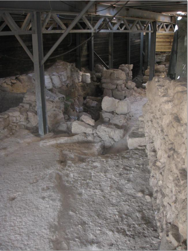 Part of the Large Stone Structure at the City of David