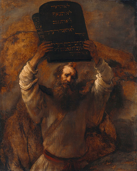 "Rembrandt: ""Moses Smashing the Tablets of the Law"" (1659)"